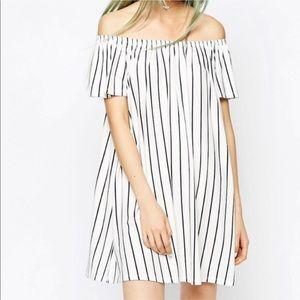ASOS off the shoulder swing dress